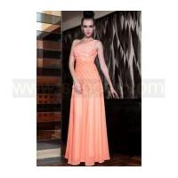 One shoulder jacinth embroidered long bridesmaid dress Manufactures