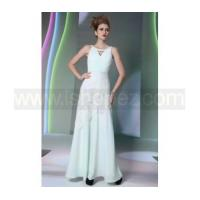 Formal long prom dress, halter bridesmaid dress with beaded Manufactures