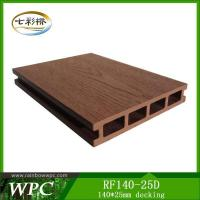 140*25mm WPC Hollow Decking Manufactures