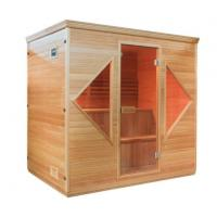 Buy cheap 4-5 Person Wood Indoor Wet Dry Sauna With 6 KW ETL Electric Heater from wholesalers