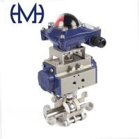 Buy cheap 3Piece (Sanitary) Automated Stainless steel Clamp Ball Valves from wholesalers