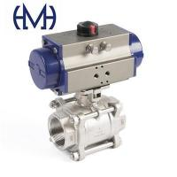 Buy cheap Pneumatic manal electric stianless steel 3 piece threaded Ball valve from wholesalers