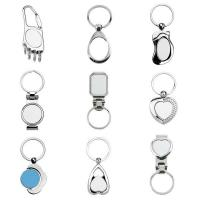 Metal Blank Dye Sublimation Photo Key Chain with Key Ring Manufactures