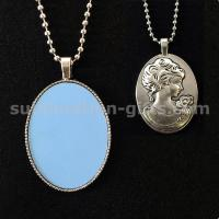 Personalise Sublimation Pendant Sweater Necklace Chain For Decorate Daily Clothing Manufactures