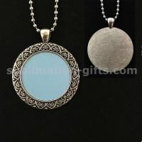 Photo Sublimation Pendant Customized Blanks Metal Chain Sweater Decoration Accessories Manufactures