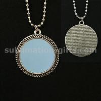 Blank Sublimation Pendant Necklace Personalize Photo Sweater Chain Length 72CM Manufactures