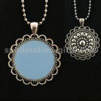 Heat of Sublimation Circular Pendant Long Jewelry Necklace Sweater Chain Manufactures