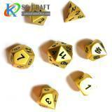 Buy cheap Pearl Gold Metal Dice from wholesalers