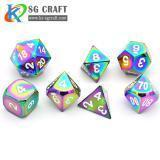 Buy cheap Rainbow Metal Dice Set from wholesalers
