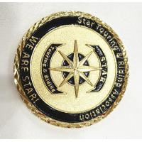 Brass Gold Customize Challenge Coins Souvenirs With Diamond Cut Edge Manufactures