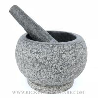 China Pestle Mortar Granite Large Mortar and Pestle Set Cooking Stone on sale