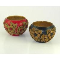 Bed & Bath Hand Carved Bowls with Flowering Dogwood Design Manufactures