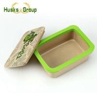 OEM or ODM Eco-Friendly Rice Husks Fiber Take Away Bento Lunch Box Manufactures