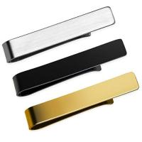 custom logo metal men tie bar clips with gift box Manufactures