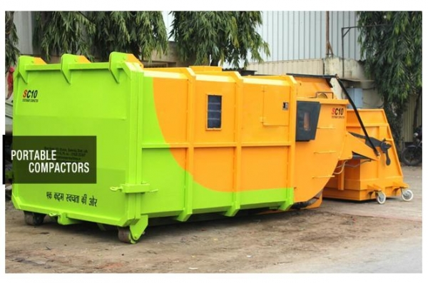 Quality Portable Refuse Compactor Capacity 10/ 16 Cumt for sale