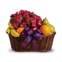 China Blooms and Fruit Gift Basket on sale