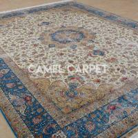 Buy cheap Z1889A Blue And Cream Silk Handmade Rug Sale from wholesalers