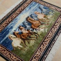 Buy cheap Z1202A Handmade Silk Tapestry Horse Rug For Sale from wholesalers