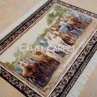 Buy cheap Z1201A Silk Hand Knotted Horse Tapestry from wholesalers
