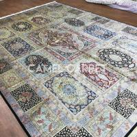 Buy cheap Z2000A Compartment Design Silk Handmade Gold Floor Rugs from wholesalers