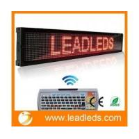 Leadleds 40x6.3 Inches Remote LED Scrolling Display Board for Business - Red Message Manufactures