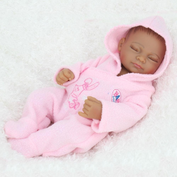 Quality Doll Sort 10 inches African American Baby Doll Black Girl Realistic Life Like Reborn Newborn Babies for sale