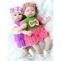 Buy cheap New Fashion 17 Inch Twins Silicone Reborn Doll For Childs Play House Toys Gift Realistic Soft Toys from wholesalers