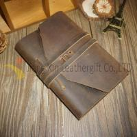 Leather Notebook Engraved Leather Notebook with Tie Leather Notebook no Lines