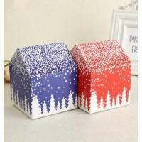 China Custom Mini Unique Paper Christmas House Gift Box on sale