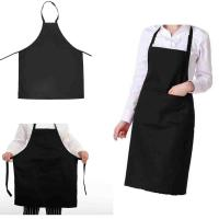 Custom Made BBQ Aprons For Men Black Color Heat Fire Resistant Aprons Model Number:LC-02 Manufactures