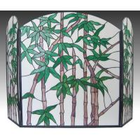 STAINED GLASS WINDOW SL003-bamboo stained glass fire screen