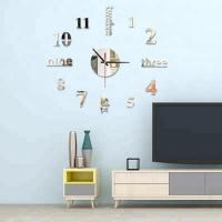 3d wall sticker clock Home Decor diy modern wall clocks acrylic mirrored decorative stickers