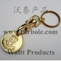 Gold Trolley Coin Keychains, Gold Trolley Coin Keyring Manufactures