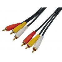 3 RCA to 3RCA cable Moudled, nickelplated connector (model:3RCA002) Manufactures