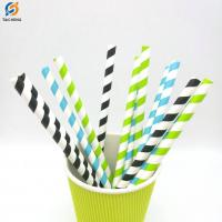 Party Supplies Eco Stripe Biodegradable Paper Drinking Straws for Juices Manufactures