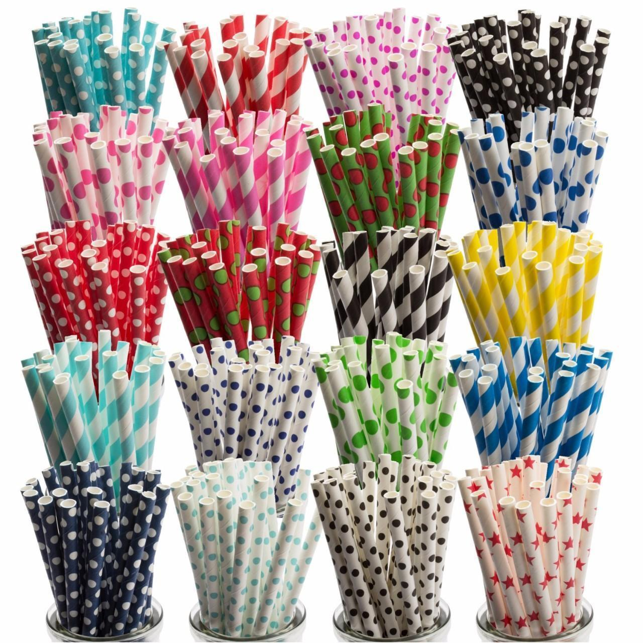 Buy cheap Red And Yellow Striped Biodegradable paper straws from wholesalers