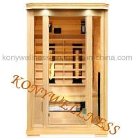 Far Infrared Sauna 2 Person Far Infrared Sauna Room Made of Pure Hemlock Wood with Ce and ETL Manufactures