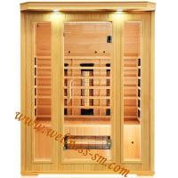 Far Infrared Sauna Far Infrared Dry Sauna Room Made of Canada Hemlock with Big Front Glass Wall Manufactures
